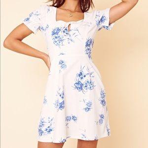ASOS / Neon Rose Floral Mini Dress